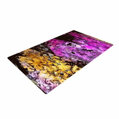 Rosie Brown Garden Glows Gold/Purple Area Rug