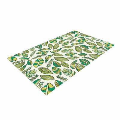 Pom Graphic Design Tropical Botanicals Nature Green Area Rug