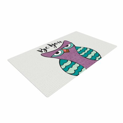Pom Graphic Design Be You Owl Illustration Purple Area Rug Rug Size: 2 x 3