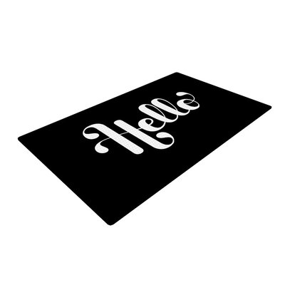 Roberlan Hello White/Black Area Rug