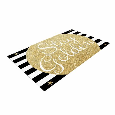 Richard Casillas Stay Black/Gold Area Rug
