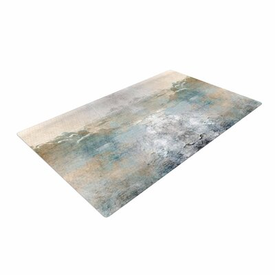 Pia Heaven II Mixed Mediia Abstract Gray Area Rug