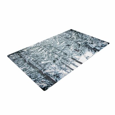 Juan Paolo Winter Trials Snow White Area Rug Rug Size: 4 x 6