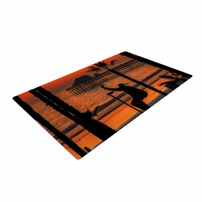Juan Paolo Endless Summer Orange/Black Area Rug