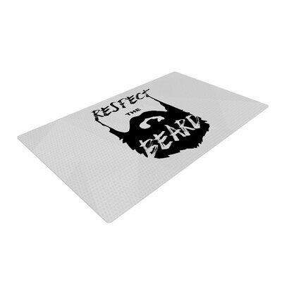 Juan Paulo Respect the Beard Typography Black/Gray Area Rug