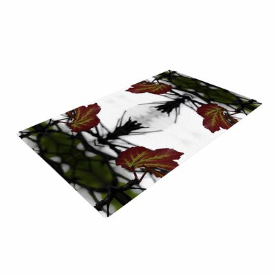 Pia Schneider Leaves Red/Green Area Rug