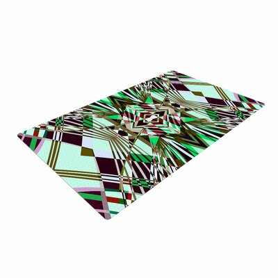 Pia Schneider Sweeping Line Pattern I-E4B Diamond Green Area Rug