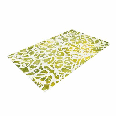 Rosie Brown Spiral Abstract Green Area Rug