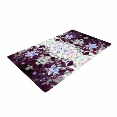 Pia Schenider Roses ll Purple/White Area Rug