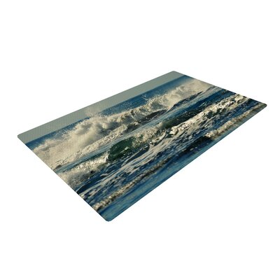 Robin Dickinson Forever Young Coastal Blue Area Rug Rug Size: 2 x 3