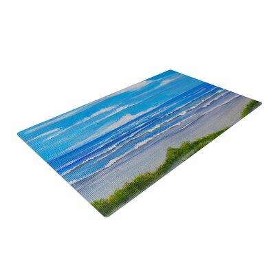 Rosie Brown Sanibel Island Coastal Painting Blue Area Rug