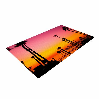 Juan Paolo Pacific Dream Magenta/Orange Area Rug