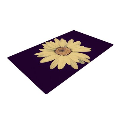 Robin Dickinson Half Crazy Black/Yellow Area Rug