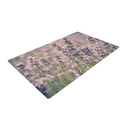 Robin Dickinson Smell the Flowers Lavender/Green Area Rug Rug Size: 2 x 3