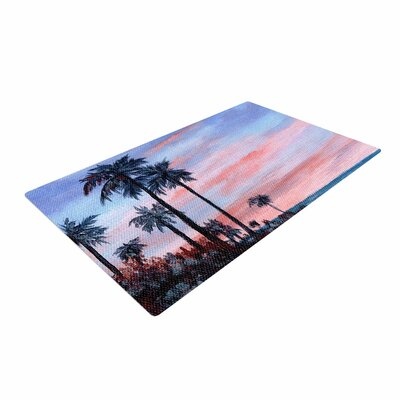 Rosie Brown Florida Sunset Pink/Blue Area Rug