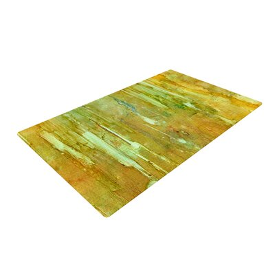 Rosie Brown Rock City Painting Yellow Area Rug Rug Size: 2 x 3
