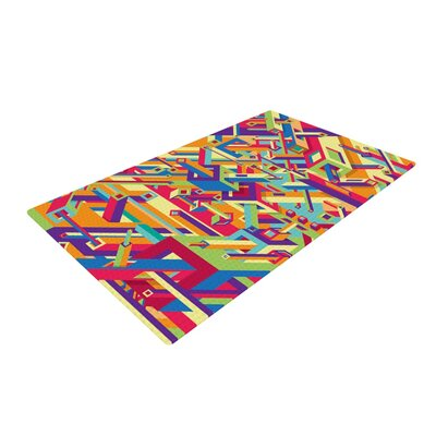 Roberlan Buracos Abstract Multicolor Area Rug