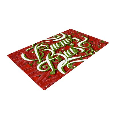 Roberlan Buenos Dias Good Day Red/Green Area Rug Rug Size: 2 x 3