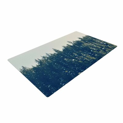Robin Dickinson Take the Road Less Traveled Gray/Green Area Rug