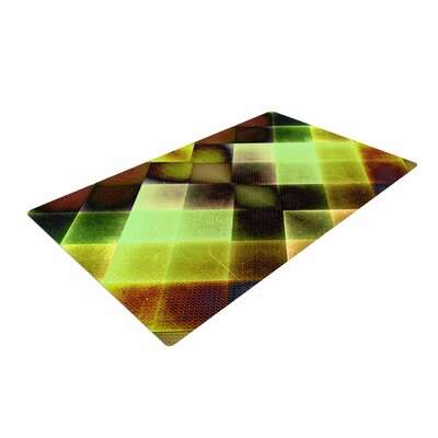 Pia Schneider Colorful Squares Green/Yellow Area Rug