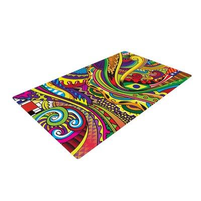 Roberlan Doodle Abstract Rainbow Area Rug