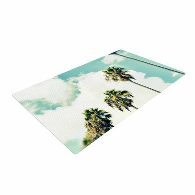 Richard Casillas	 Paradise and Heaven Blue/White Area Rug