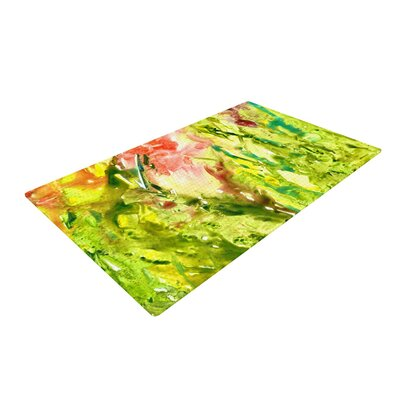 Rosie Brown Thumb Paint Lime/Green Area Rug Rug Size: 2 x 3