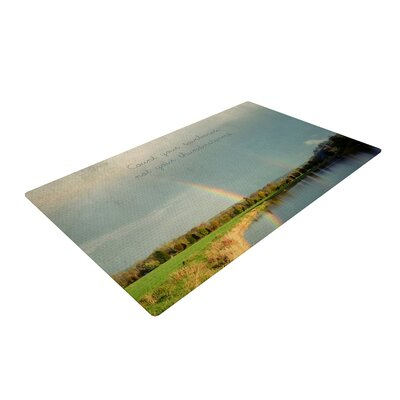 Robin Dickinson Count Rainbows Typography Nature Area Rug Rug Size: 4 x 6