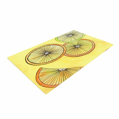Rosie Brown Lemons and Limes Fruit Yellow Area Rug