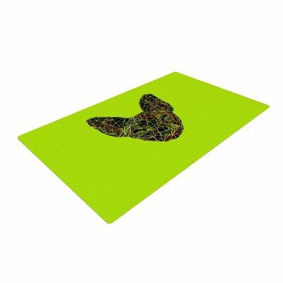 BarmalisiRTB Geometry Sphynx Animals Green Area Rug