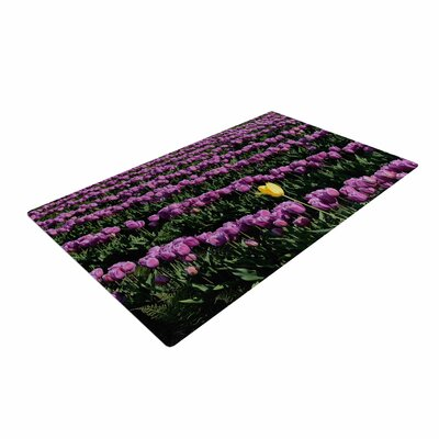 Robin Dickinson Youre One of a Kind Purple/Green Area Rug