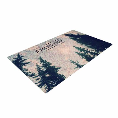 Robin Dickinson If Not Now, When? Tree Typography Pink/Green Area Rug
