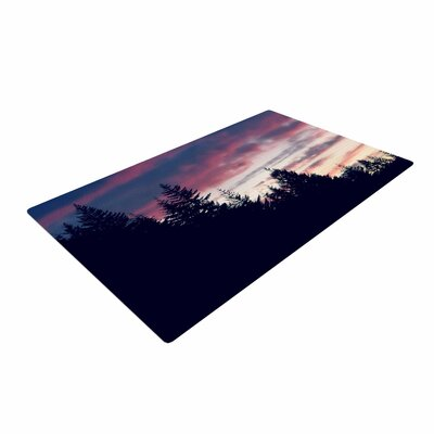 Robin Dickinson Go on Adventures Skyline Black/Pink Area Rug