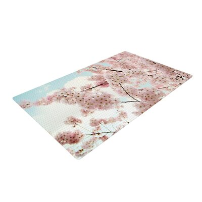 Sylvia Cook Spring Beauty Pink/Blue Area Rug Rug Size: 4 x 6