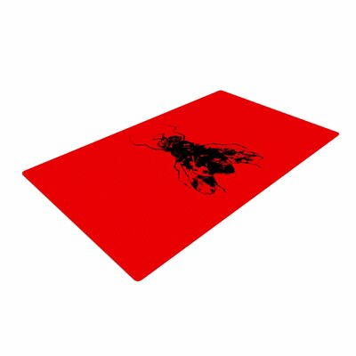 BarmalisiRTB The Fly Black/Red Area Rug