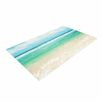 Sylvia Cook Endless Sea Coastal Blue Area Rug Rug Size: 2 x 3