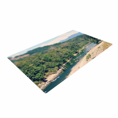 Robin Dickinson Summertime Float River Green Area Rug