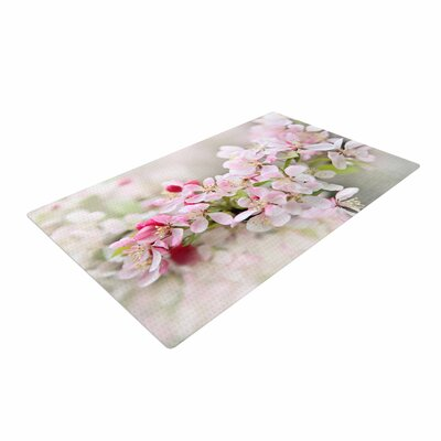 Sylvia Cook April Flowers Pink/White Area Rug