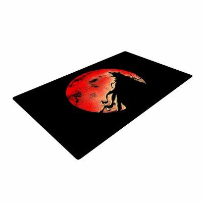BarmalisiRTB Cloak Moon Red/Black Area Rug