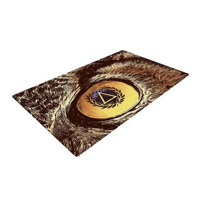 BarmalisiRTB Sharp Eye Owl Gray/Brown Area Rug Rug Size: 2 x 3