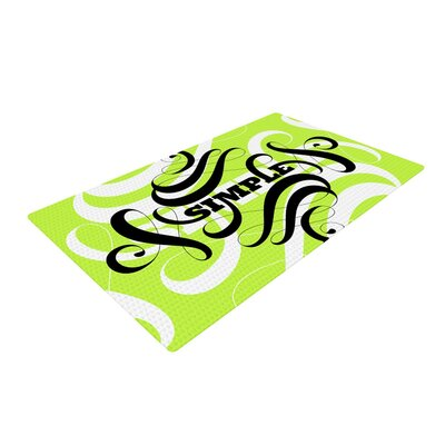 Roberlan Simple Lime Green Area Rug Rug Size: 2' x 3'