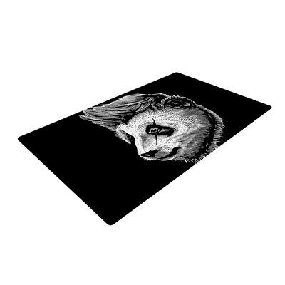 BarmalisiRTB Funky Panda Black/White Area Rug Rug Size: 2 x 3