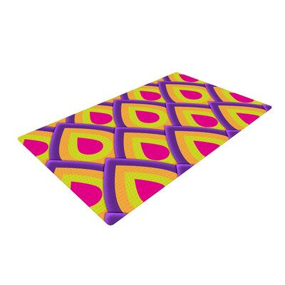 Roberlan Pineapple Pink/Yellow Area Rug Rug Size: 2 x 3