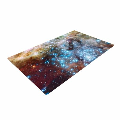 Suzanne Carter Star Cluster Space Blue Area Rug Rug Size: 2 x 3