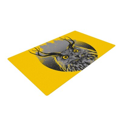 BarmalisiRTB Majesty Owl Yellow Area Rug Rug Size: 4 x 6