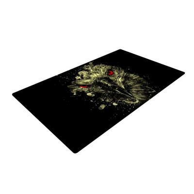 BarmalisiRTB Eagle Black/Yellow Area Rug Rug Size: 2 x 3