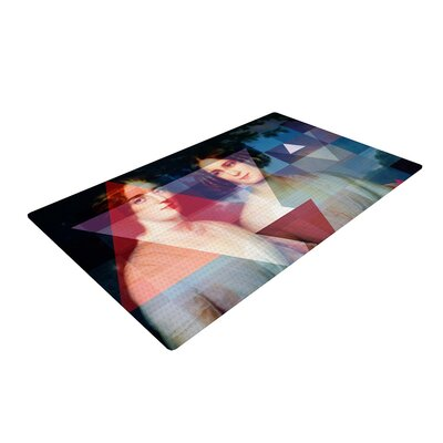 Suzanne Carter Twins Red/Blue Area Rug Rug Size: 4 x 6