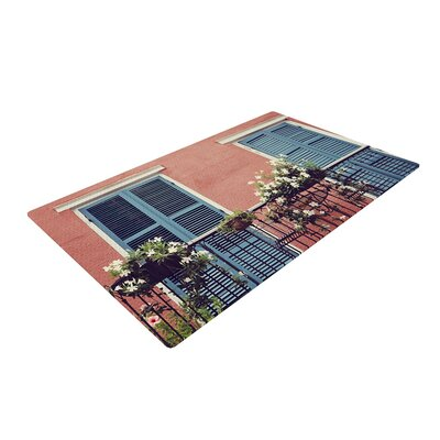 Sylvia Cook New Orleans Balcony Pink/Blue Area Rug Rug Size: 2 x 3