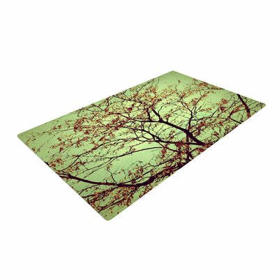 Sylvia Coomes Modern Fall Tree Green/Brown Area Rug