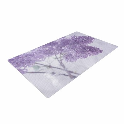 Suzanne Harford Lilacs Floral Purple Area Rug